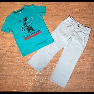 Old Navy Kids T-Shirt and Hollywood Jeans